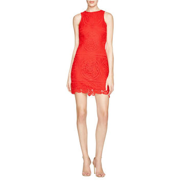 JOA Womens Crochet Lined Casual Dress