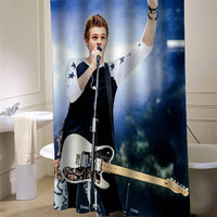 luke hemmings 5sos showercurtain - myshowercurtains