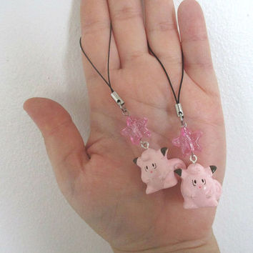 2x Pokémon Phone charms - CLEFAIRY -  Phone Charms Set -  Pokemon GO  - Bff charms