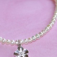 Freshwater Pearl Flower Necklace