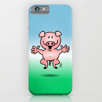 Cheerful little pig iPhone & iPod Case by Cardvibes