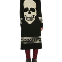 Black Ivory Skull Back Girls Cardigan