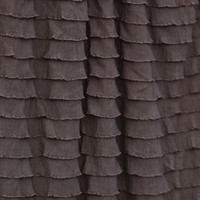 Ruffle Photography Backdrop in Mocha Brown With Rod Pocket for Hanging