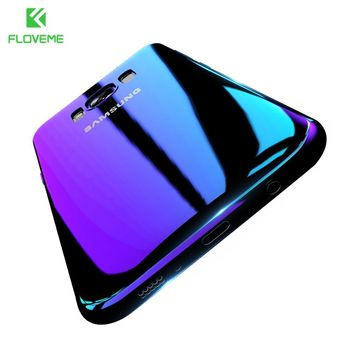 FLOVEME Luxury For Samsung S8 Plus Case Blue Ray Phone Cases For Galaxy S6 S7 Edge Hard Cover A3 A5 2016 2017 PlasticAccessories