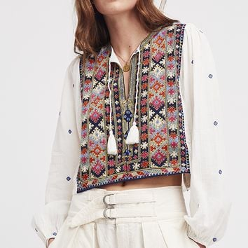 Enter Loveland Embroidered Top - Ivory by Free People