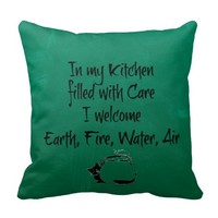 """Welcome"" Kitchen Witch Pillow"