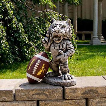 """LSU Tigers NCAA Mike the Tiger"""" College Mascot 20in Vintage Statue"""""""