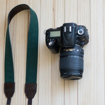 Green Camera Strap for DSLR , Mirror Less ,Compact