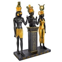 Park Avenue Collection Osiris Isis And Horus Statue