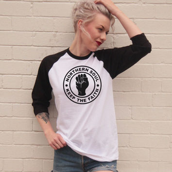 Vintage Style Northern Soul Jersey/t-Shirt
