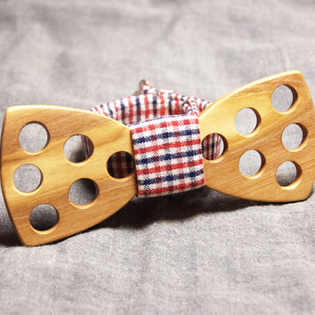 Wood Bow Tie - Wooden Bow Tie / Unique Wood Bowtie. Wooden Bowtie - Boys Bowtie.  Mens Bow Tie. Hand Made - Personal Gift. Men Accessory