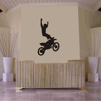 Dirtbike Rider MX X Games Version 102 Decal Sticker Wall