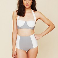 Free People High Waist Colorblock Bottoms