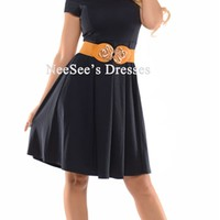 The Ivy in Navy Dress by Mikarose | Trendy Modest Dresses | Mikarose Spring 2014 Collection