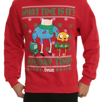 Adventure Time Holiday Time Crew Pullover 2XL