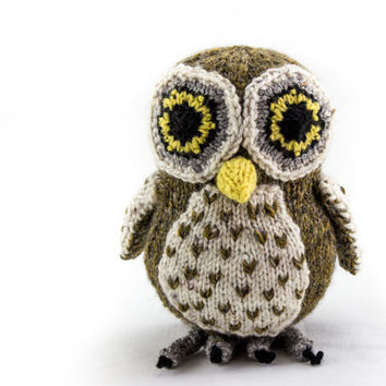 KNITTING PATTERN, PDF, Soft Toy Knitting Pattern, Australian Boobook Owl, Wildlife Toy, Soft Toy, Knitted Softie Pattern