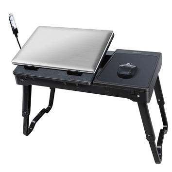 iMounTEK Portable Laptop Table Lap Desk With Laptop Cooling Pad LED Desk Lamp With Built in USB Hub (Black) '