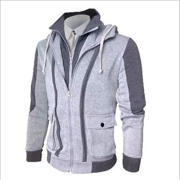 Hoodies Men 2018 Brand Male Long Sleeve Hoodie Brushed Sweatshirt Mens Cardigan Moletom Masculino Hoodies Slim