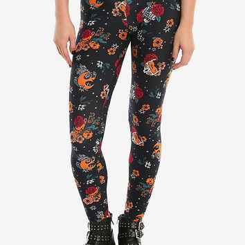 Her Universe Star Wars Floral Rebel Leggings