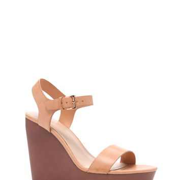 Faux Leather Wedges | Forever 21 - 2000170139