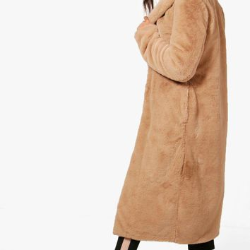 Tall Mia Teddy Faux Fur Coat | Boohoo