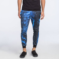 Elwood Blue Galaxy Mens Jogger Pants Black/Blue  In Sizes