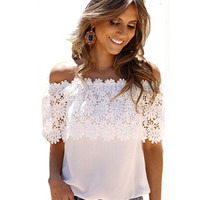 Off Shoulder Lace Tops