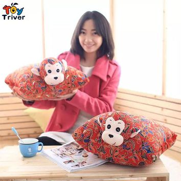 Triver Toy Chinese monkey year doll stuff toy air-conditioning quilt pillow sofa cushion wedding valentine's gift baby blanket