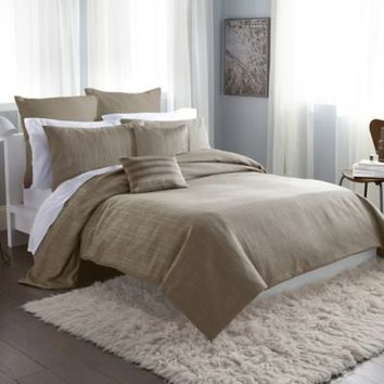 DKNY City Line Duvet Cover in Taupe
