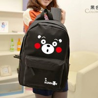 Super quality Anime Kumamon Black Bear Backpack School Shoulder Bag Black Plush Cartoon Bag 45cm Free shipping