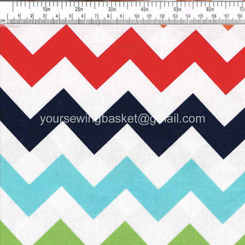 Chevrons - Quilting Cotton Fabric - Riley Blake- Cotton Fabric - by the yard - Your Sewing Basket
