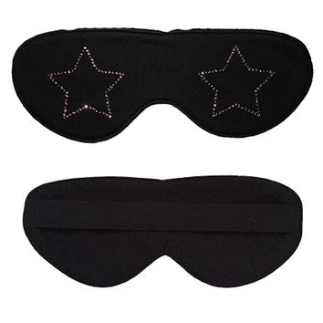 Pink Rhinestone Star Cotton Lux Sleep Mask