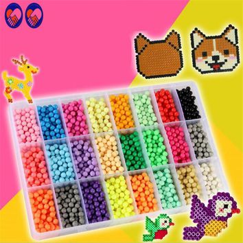 A Toy A Dream Water Hama Beads toys Sticky Perler Beads Pegboard set Fuse Beads jigsaw puzzle Water BeadS Educational DIY toys