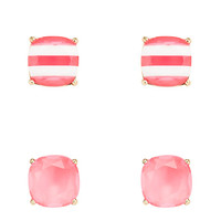 Kate Spade Kate Spade Small Square Studs 2 Pack Pink Multi ONE