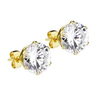 Mister Circle Stud Earrings - Gold