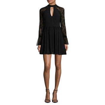 My Michelle Long Sleeve Party Dress-Juniors - JCPenney