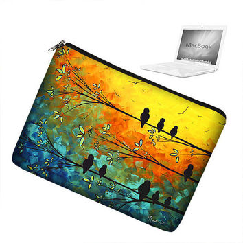 17 inch Laptop Sleeve MacBook Pro 17 inch by janinekingdesigns