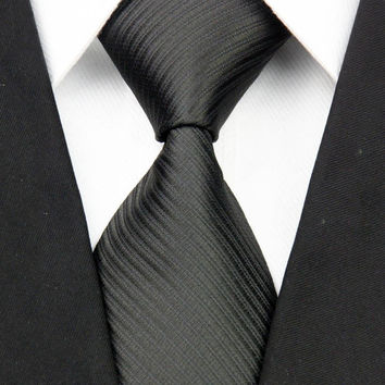 Striped Solid Color Necktie