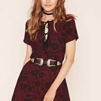 Laddered Fit And Flare Dress