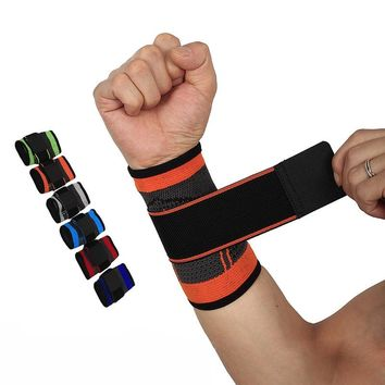 Basketball Wristband Protector Sport Powerlifting Bracer Wrist Support Sport Bandage Tennis Boxing Gym Weight Lifting Straps