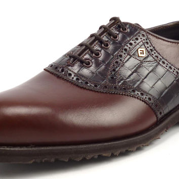 Footjoy Classic New Mens Golf Shoes 10 EEE Spikeless Saddle Style 55402 Brown