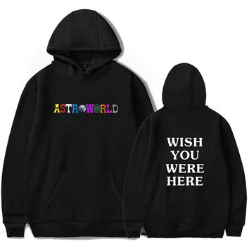 KPOP BTS Bangtan Boys Army  Print Travis Scotts ASTROWORLD Hooded Hoodies Men/Women Clothes 2018 Harajuku Hip Hop Hoodies Sweatshirt Male Plus Size 4XL AT_89_10