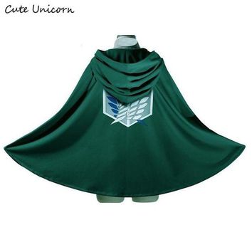 ac DCCKO2Q SALE Attack on Titan Cloak Shingeki no Kyojin Scouting Legion Cosplay Costume anime cosplay green Cape mens clothes