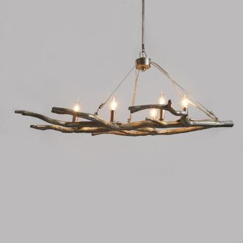 Silver Branch 5 Light Chandelier