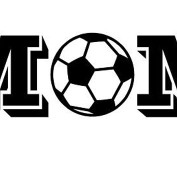 Soccer Mom car decal Die Cut decal Soccer Ball Decal Sports decal vehicle auto window decal custom vinyl sticker