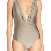 Ted Baker London Plunge One Piece Swimsuit | Nordstrom