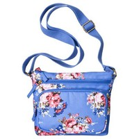 Mossimo Supply Co. Floral Canvas Crossbody Bag - Blue