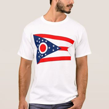 T Shirt with Flag of Ohio State USA