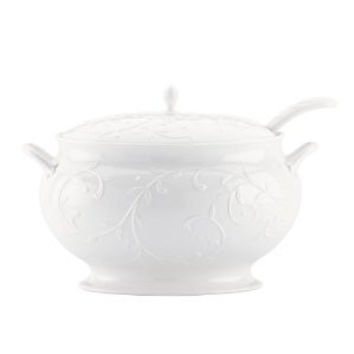 Opal Innocence Carved Covered Soup Tureen with Ladle by Lenox
