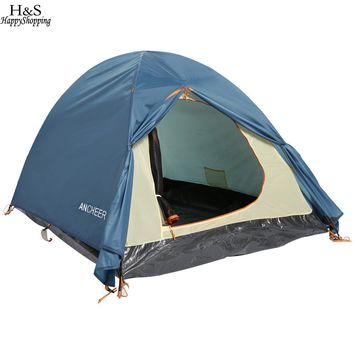 2-Person Dual Layer 2-Pole Freestanding Dome Tent